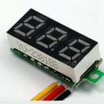 "0.28"" Voltmeter Header Voltage Meter R2 0-100V 02"