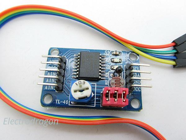 PCF8591 AD//DA Digital Conversion of to Analog Converter Temperature Module