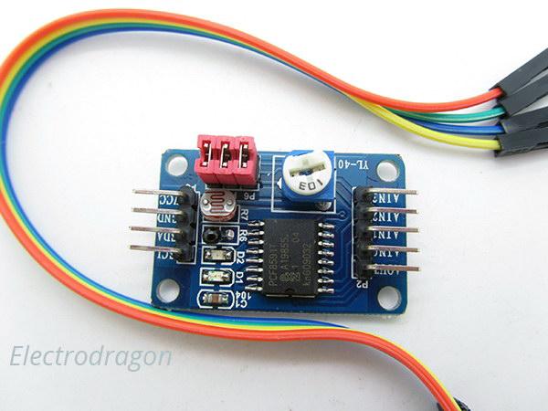 PCF8591 ADC DAC AD//DA Analog Digital Converter Module Conversor I2C