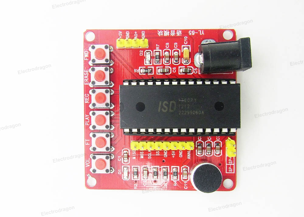 WTV020 Voice Sound Recording Module MP3 Playback Music Audio Recordable Board