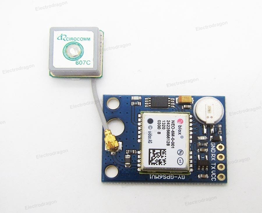 EDXGPS Ublox NEO-6 GPS Module wActive Antenna, EERPOM, Battery 1