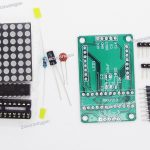 Dot Matrix Display Kit wMAX7219 IC, PCB