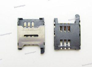 Sim Card Holder Socket 6P
