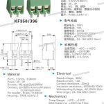 10PCs KF350 Wiring PCB Terminal Block 3.5mm-Pitch