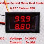 Digital Ammeter Voltmeter DC0-100V10A 01