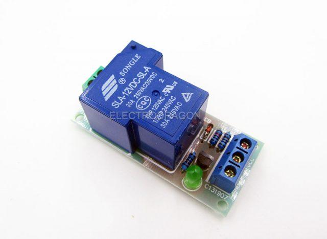 High Power Relay Module 12V 30A - ElectroDragon