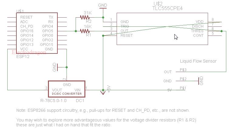 esp8266 with reflow sensor