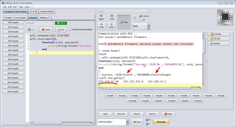 smartconfig and get ip address
