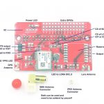 GPS Lora Shield for Raspberry Pi, R2.1 01