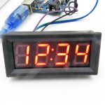 "4 Digits Segment Display Header Clock Meter 0.56"" [Version] – clock 04"